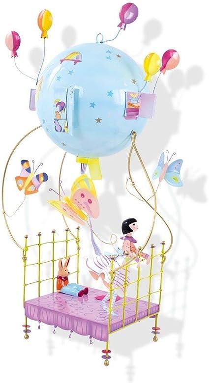 LOiseau Bateau Schlumpeters Mobile Chambre pour Enfant La Fille N/énuphar