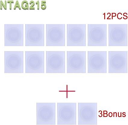 15x NFC NTAG215 Tags Sticker Pegatinas Compatible con TagMo Amiibo -Se utiliza para tarjetas de juego Amiibos y es compatible con todos los teléfonos ...