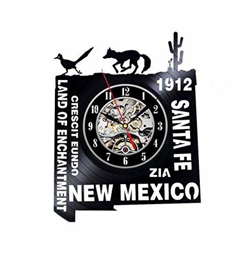 New Mexico Gift USA States City Vinyl Record Clock Wall Decoration Modern Vintage Art Room