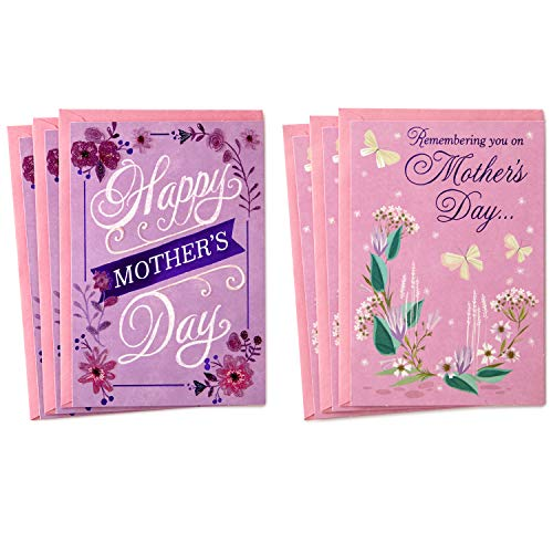 Hallmark Mothers Day Card Assortment, Remembering You on Mother's Day (6 Cards with Envelopes) (Best Greetings On Mother's Day)