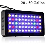 Dimmable Full Spectrum LED Aquarium Light 165W for Reef Coral & Fish Two Dimmers 2 Active Cooling Fan System