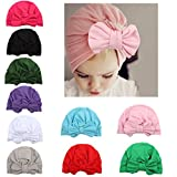 WZT 10 Pcs Newborn Elastic Sretch Head Wrap Infant Turban Toddler Baby Girl Knot Headbands