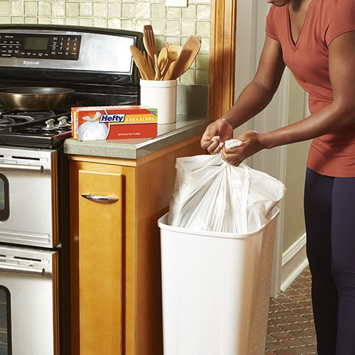 Hefty Easy Flaps Trash Bags (Tall Kitchen, 13 Gallon, 35 Count) by Hefty (Image #3)