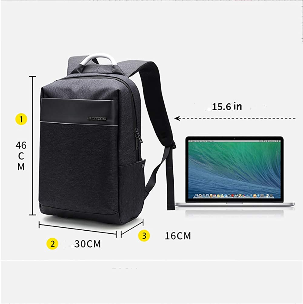 up to 14 inches ZGSP Waterproof Oxford Cloth Backpack Laptop Backpack Multifunction High Capacity Business Daypack for Men