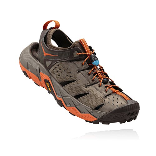 Hoka One One Men's Tor Trafa Hiking Sandal,Brindle/Red Orange,US 12 M