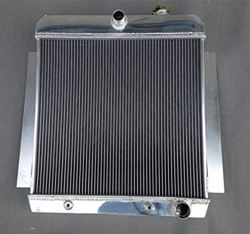 3 ROW ALUMINUM RADIATOR 1955-1959 CHEVY PICK UP TRUCK V8 AT MT ()