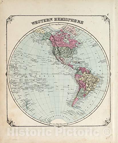 Historic 1876 Map   Illustrated Historical Atlas of Porter County, Indiana.   Western Hemisphere   Hardesty's Atlas of Porter Co, Indiana 37in x 44in