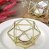 32 Gold Hexagon Shaped Geometric Design Tea Light Votive Candle Holders