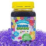 Magic Beadz Purple Gel Water Beads - Transparent Jelly Pearls - Vase Filler - Wedding Centerpiece - Candles - Flower Arrangements - Over 30,000 Beads - 11oz Jar Makes Over Ten Gallons