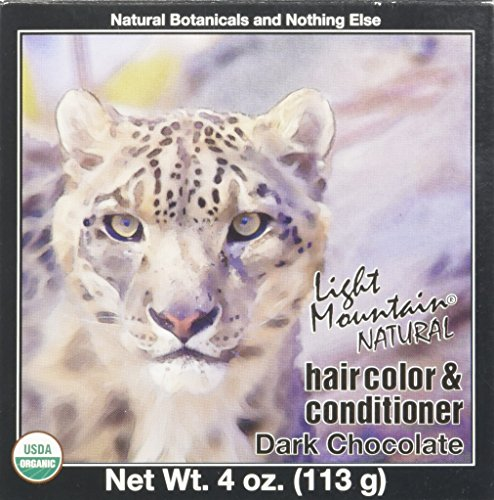 (LIGHT MOUNTAIN Hair Color Hair Color Dark Chocolate, 0.02 Pound)