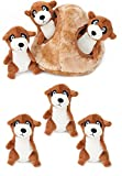 ZippyPaws Meerkat Den Burrow Toy with 3 Meerkats, Plus 3 Extra Meerkat Refills