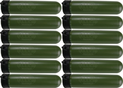 Allen Paintball Products Scenario Style 140 Round Pods - OD Green - 12 Pack by Allen Paintball