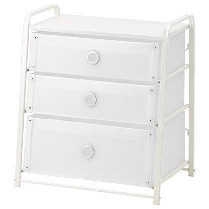 IKEA ASIA Lote - Cajonera con 3 cajones, Color Blanco ...