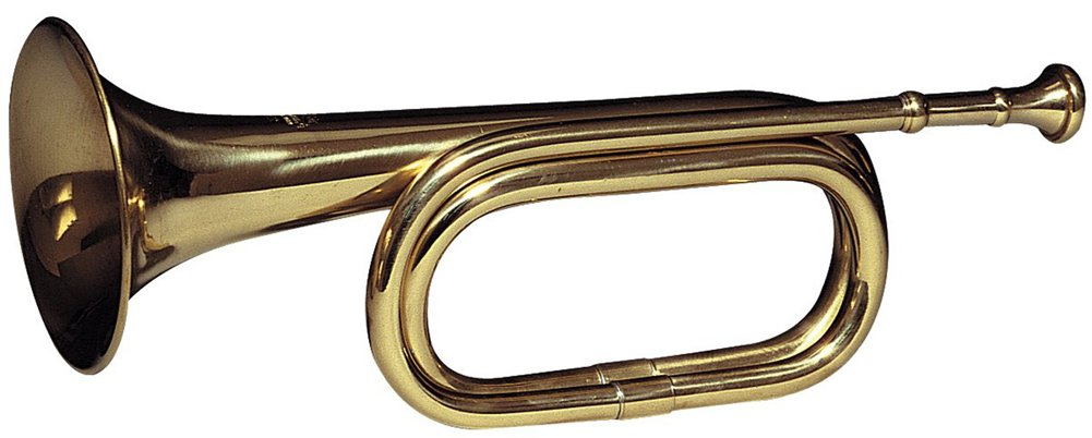 Brass Cavalry Bugle Instrument B-Flat by Rothco
