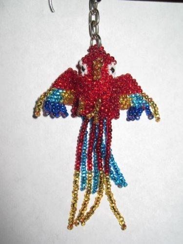 Parrot Keychain Handmade in Guatemala by Santiago Atitlan Handcrafts ()