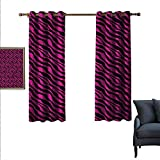 """Best Greenland Home Home Fashion Pinks - Pink Zebra Customized Curtains Wild Animal Stripes 55""""x Review"""