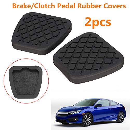 Honda Clutch Pedal Pad - JUST N1 2X Brake Clutch Pedal Pad Durable Rubber Cover for Honda Civic Accord CR-V Prelude Acura 1 Pair Automatic Accessories
