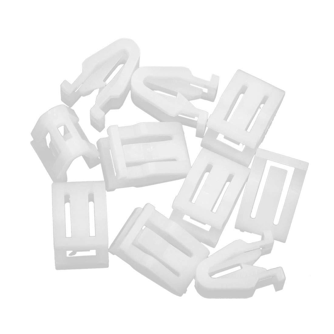 X AUTOHAUX 10pcs Universal White Car Plastic Retainer Console Panel Clip Fastener Interior