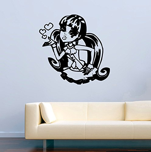 Monster High Vinyl Wall Decals Cartoon Decor for Children's Rooms Vinyl Sticker Murals -