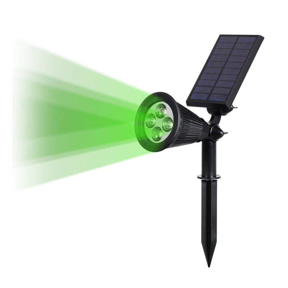 T-SUN ソーラーライト 4LED ガーデンライト グリーン スポットライト 省エネ 屋外用充電式 防水加工 暗くなると自動点灯 玄関先/芝生/階段/庭など対応 LED照明  (1) B01FJWPPC6 8398