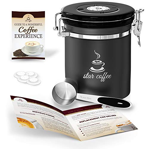Star Coffee Container Airtight Coffee Storage