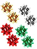 4 Pairs Christmas Bow Earrings Xmas Present Bow Earrings Christmas Stud Earrings for Women Favors