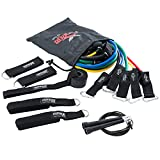 Cheap Exercise Resistance Bands Set with Adjustable Speed Jump Rope for the Ultimate Workout Experience by RENEG8 – Includes 5 Stackable Exercise Bands, Ankle Straps, Door Anchor, and Ebook