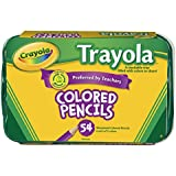 Crayola 54 Trayola Sharpened Colored Pencils, 6 Sets of 9 Colors