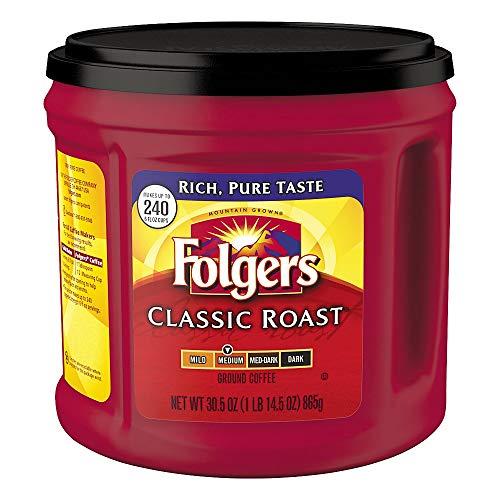 Folgers Classic Roast Ground Coffee, Medium Roast, 30.5 Ounce, Packaging May Vary