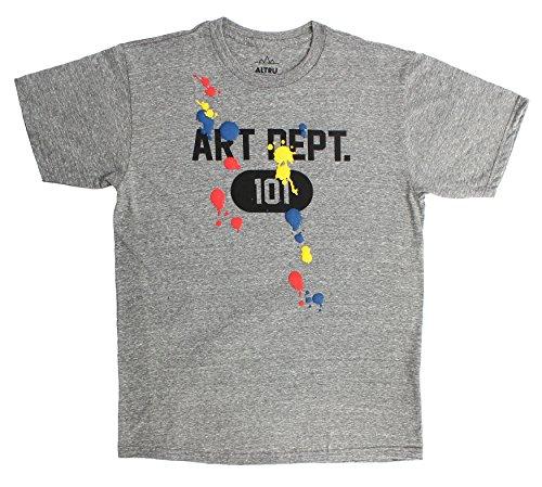 Altru Apparel Art Dept Paint T-Shirt In Heather Grey,Small,Heather Grey -