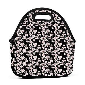 Borsa per il trasporto portatile Tote Bag, Rami a tema natura fresca con fiori e boccioli Rustico giapponese, Borsa alla… 10 spesavip