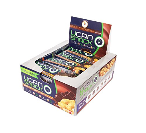UCAN Snack Bar Box, Chocolate Peanut Butter, With UCAN SuperStarch , Low Sugar, Gluten-Free, No Trans Fats, Naturally Sweetened, 1.5 Ounces, 12 Count