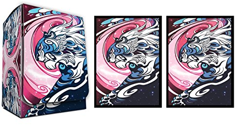 GALAXY TIGER - 100 Shuffle-Tech DEFENDERS of the UNIVERSE GLOSS Finish Sleeves + Deck Box by MAX PRO (fits Magic / MTG, Pokemon (Max Pro Deck Box)
