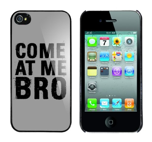 Iphone 4 Case Come at me Bro Rahmen schwarz