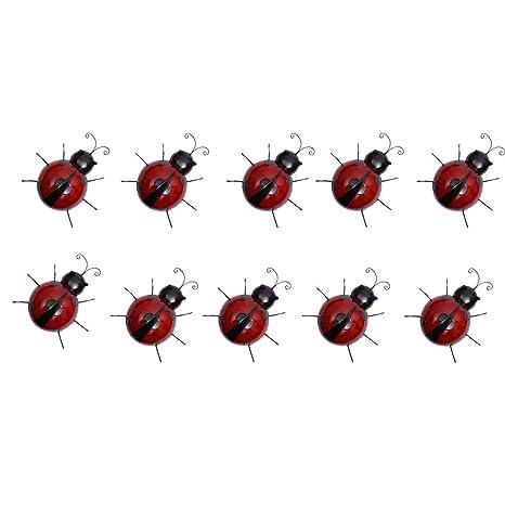 Amazon.es: B Blesiya 10 Unids Mini Metal Ladybug Valla Suministros ...