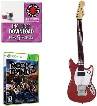 Mad Catz Rock Band 3 PRO-Guitar Bundle - Volante/mando (Guitarra, Xbox, D-pad, Inalámbrico, RF, AA) Rojo: Amazon.es: Videojuegos