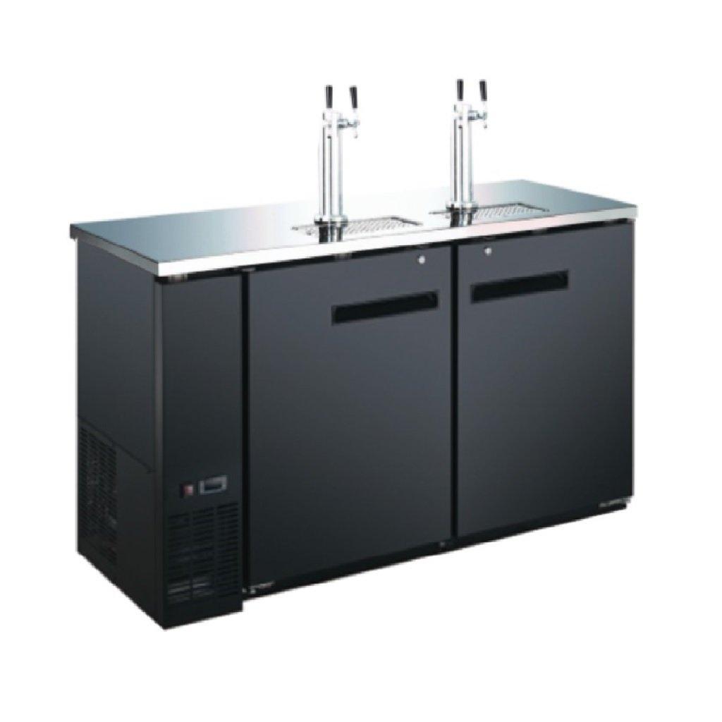 60'' 2 Door 4 Tap Commercial Beer Dispenser - Keg Cooler - Kegerator by Unknown
