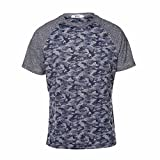HEMIKS Camouflage Men`s Short Sleeve T-Shirt (Sapphire, XL)