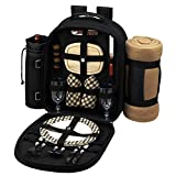 Picnic at Ascot London Picnic Backpack for 2 with Blanket