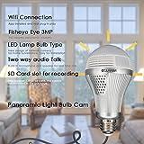 CTVMAN Panoramic IP Light Bulb Hidden Camera 3MP 1536P Full HD Wireless Mini Smartphone Wi-fi Baby Monitors For Home Security