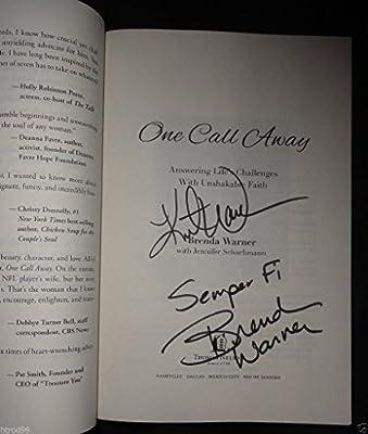 Kurt Brenda Warner Signed One Call Away Memoir Book St Louis Rams Autograph 4k