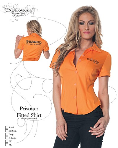 92fd5ff1 Amazon.com: Underwraps Women's Prisoner Fitted Shirt: Clothing