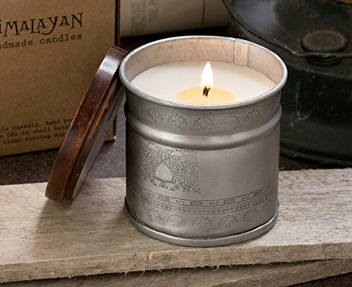Himalayan Candles Archway Etched Iron Pot, Tobacco Bark, 12 oz.