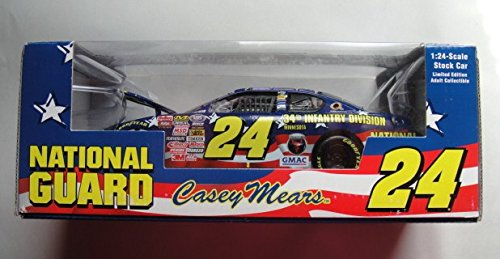 NATIONAL GUARD CASEY MEARS #24 1:24 SCALE STOCK CAR LIMITED EDITION ADULT COLLECTIBLE 34TH INFANTRY DIVISION
