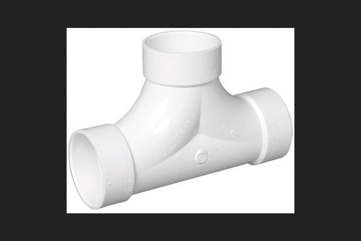 Easy to Install Durable Charlotte Pipe 2 Vent Tee Pipe Fitting - Drain, Waste and Vent Schedule 40 PVC DWV High Tensile and Sound Deadening for Home or Industrial Use Hub x Hub 25 Unit Box