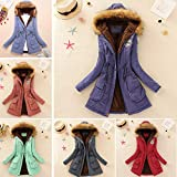 Clearance Womens Warm Long Coat Duseedik Fur Collar