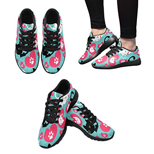 Cats Running Design 5 Sports of Couple Romantic Walking InterestPrint Women's Cute Shoes zvnFPzBca
