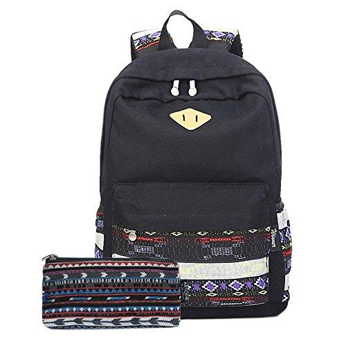 Artone Canvas Stripes Daypack Backpack