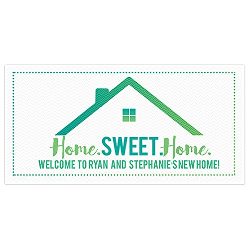 Teal Housewarming Party Banner Personalized Backdrop Decoration
