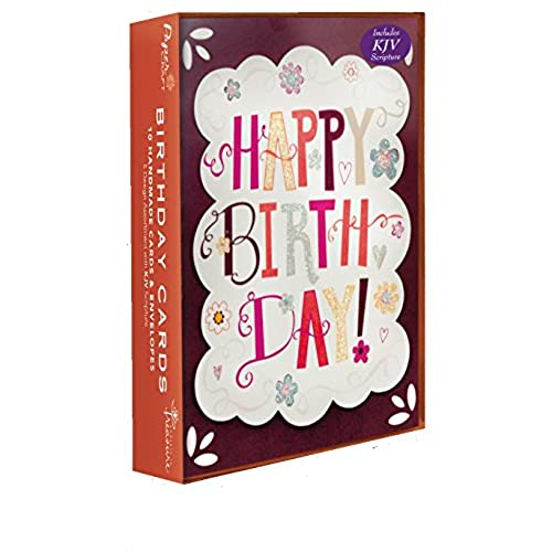 Son birthday cards amazon assorted handmade embellished birthday cards 10 pack box set for him dad husband son daughter her girl or boy with kjv scripture embellished with m4hsunfo